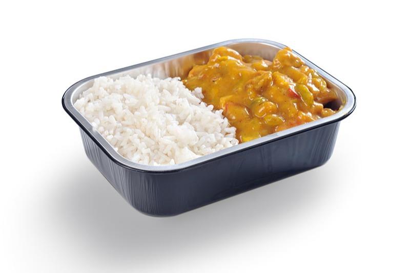 Kip Kerrieschotel met rijst
