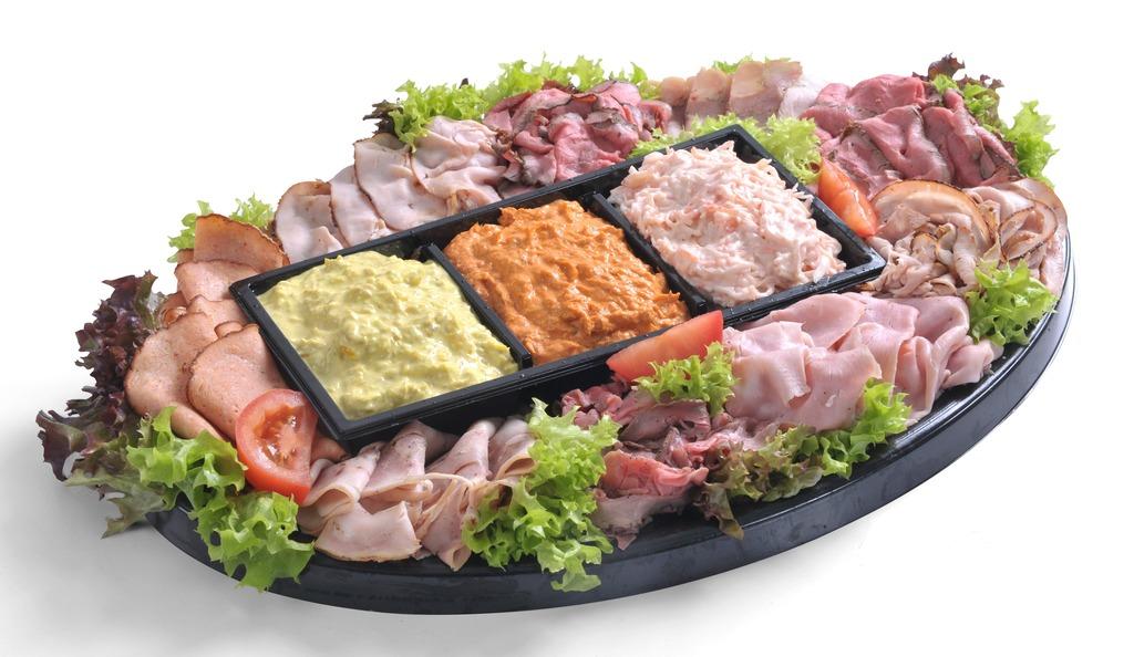 Salade & Vleeswarenschotel Trio salade