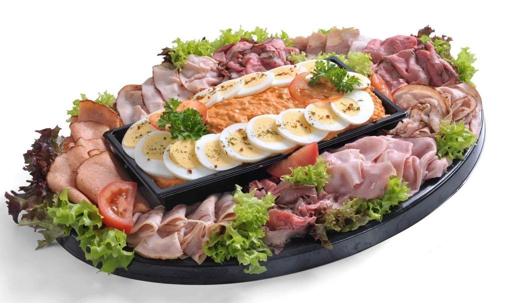 Salade & Vleeswarenschotel Zalmsalade