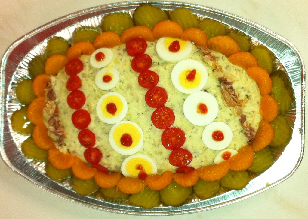 Salade Kartoffel-spek  opgemaakt