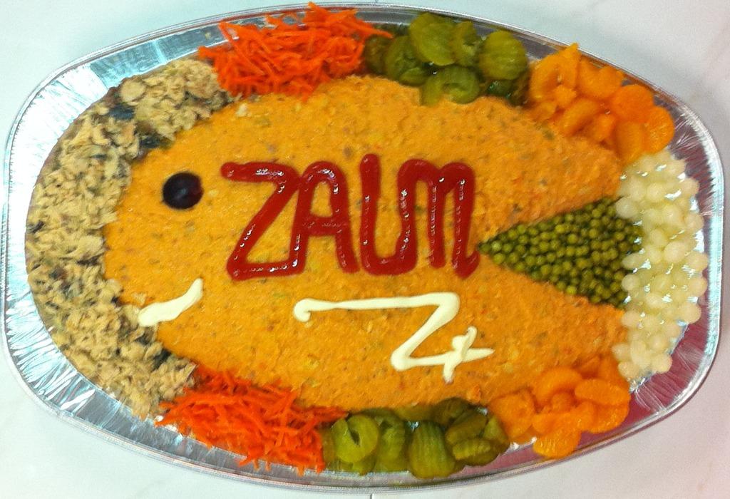 Salade Zalm opgemaakt