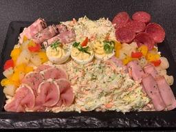 Opgemaakte salade rundvlees