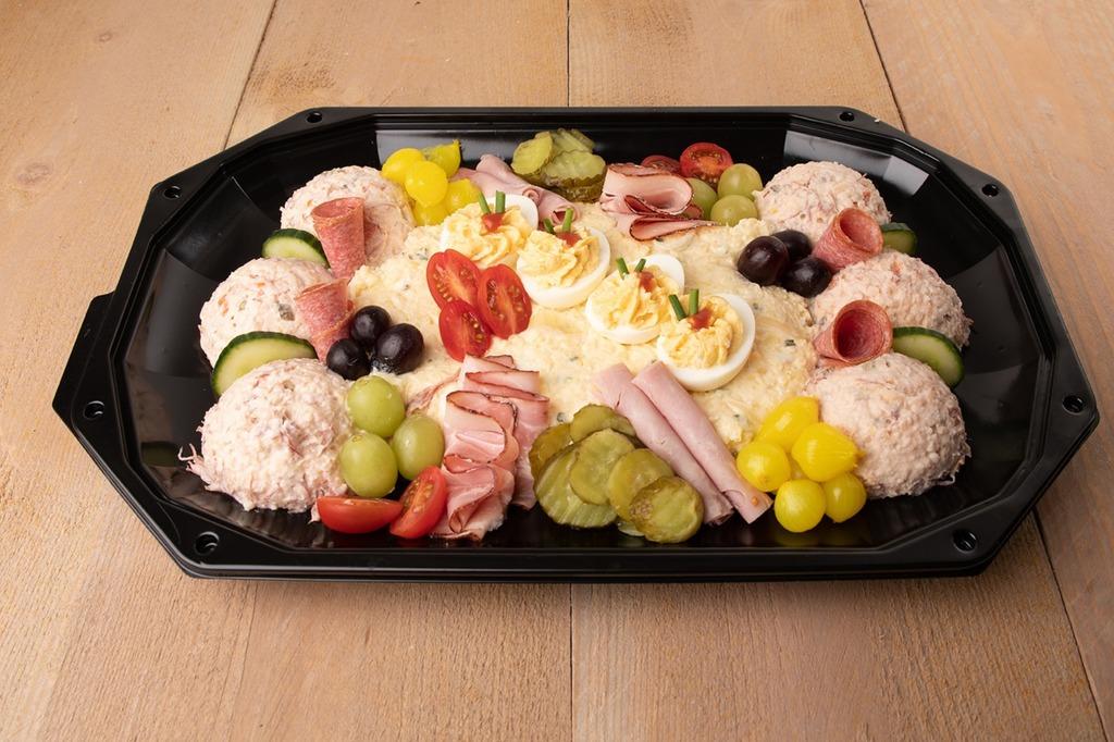 Luxe saladeschotel opgemaakt