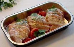 Ovensleetje kippendij met pancetta