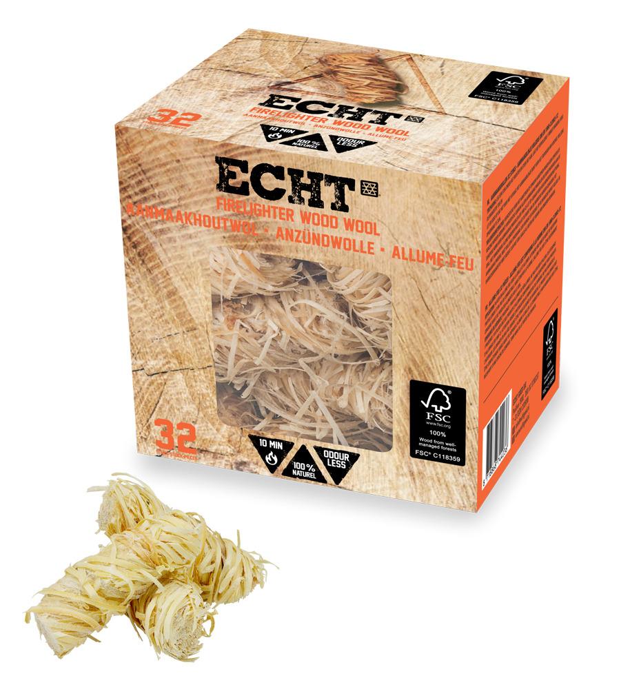 ECHT® Aanmaakhoutwol 32 stuks