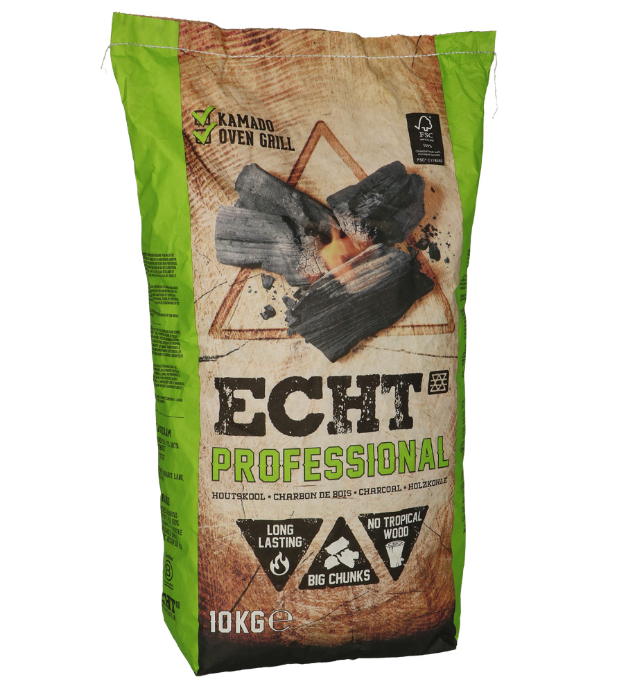 ECHT® Houtskool Kamado 10 kilo