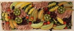 Feestplank met luxe rauwe ham en meloen
