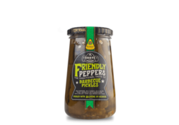 Barbecue pickles friendly peppers