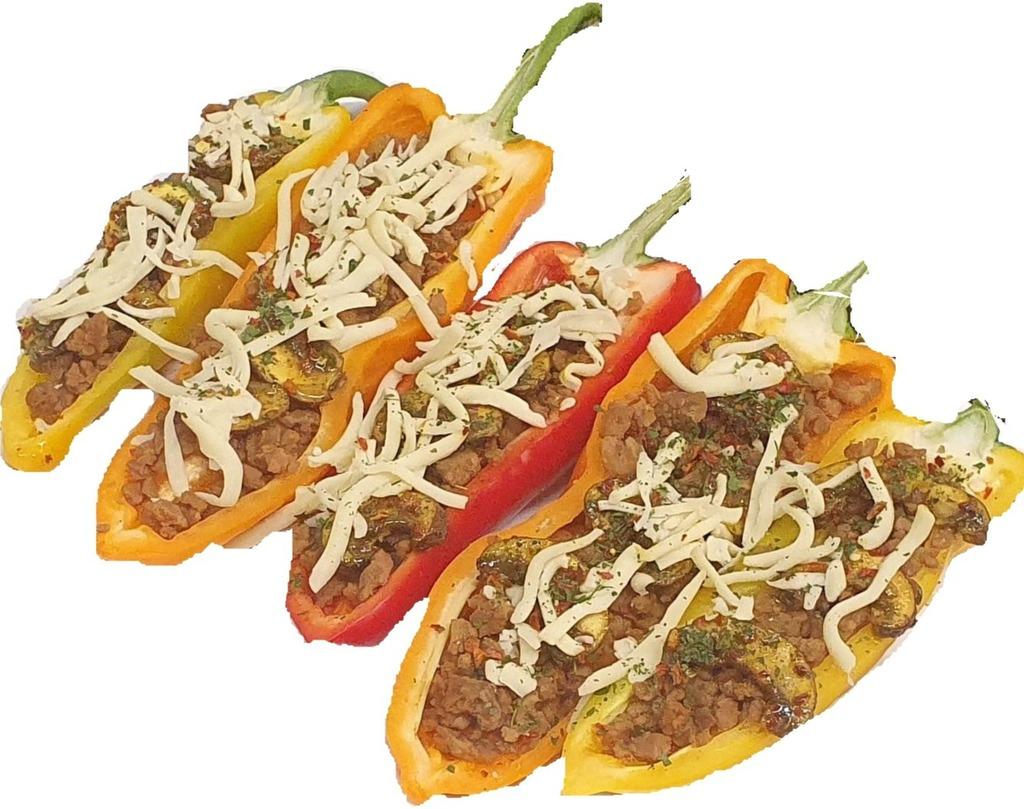 Gevulde puntpaprika vegetarisch