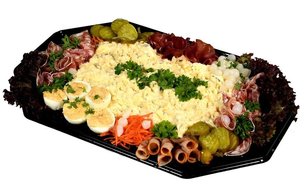 Scharrel ei salade schotel