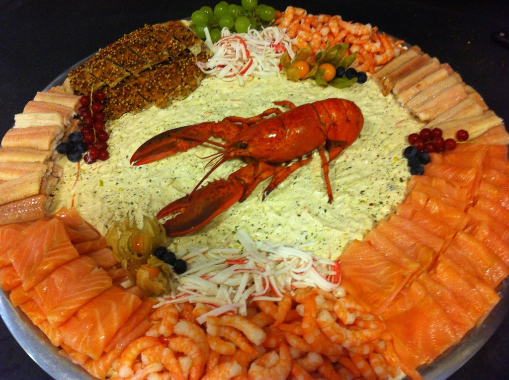 Vis salade opgemaakt