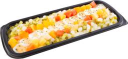 Scharrelei salade , licht gegarneerd