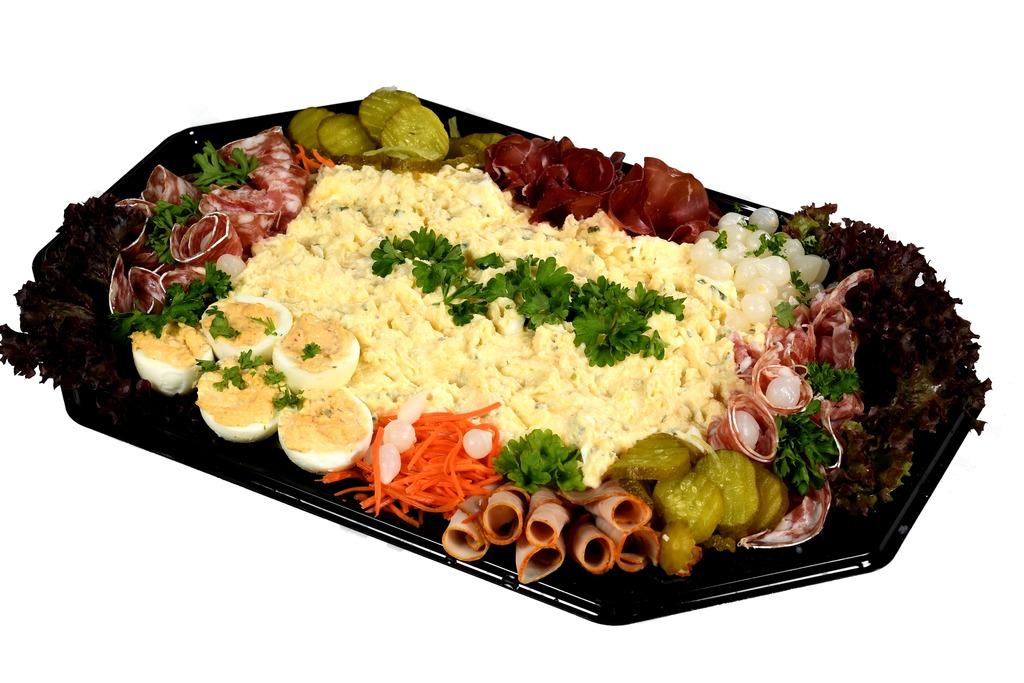 Scharrel ei saladeschotel