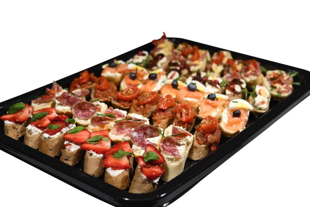 Bruschetta met feestelijke topping